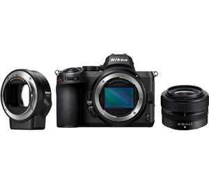 NIKON Z 5 Mirrorless Camera with NIKKOR Z 24-50 mm f/4-6.3 Lens & FTZ Mount Adapter - Black £1699 at Currys PC World