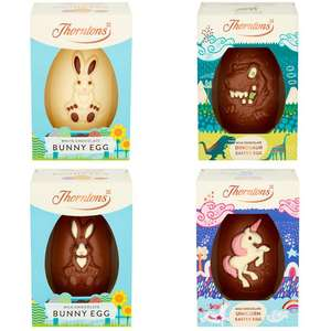 Thorntons Easter Egg - Dinosaur / Unicorn / White or Milk chocolate Bunny £1.50 each with code (+ Del Charge / Min Spend Applies) @ Iceland