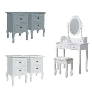 Pair of Small Bedside Tables £50.69 Delivered Using Code + Matching Dressing Tables from £59.46 Delivered (UK Mainland) @ eBay / why.buy.new