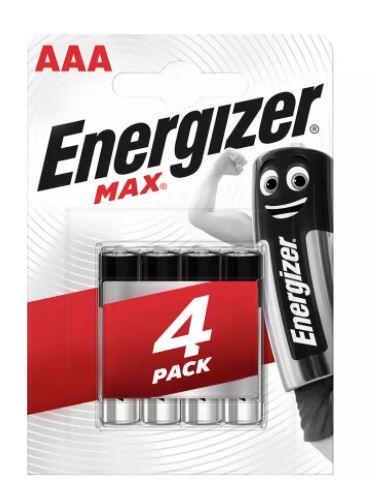 BOGOF Energizer Max AAA Batteries - Pack of 4 £3.75 + £3.95 del at Argos