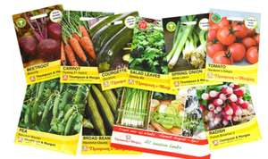 25 random packs of Thompson and Morgan vegetable seeds £9 + £1.99 del at Groupon