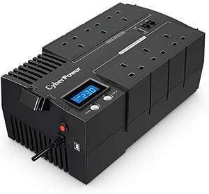 CyberPower BR1000ELCD-UK BRICs Series, 1000VA/600W, 6 UK Outlets (3 Surge only, 3 UPS and Surge), 1 USB Charging Port, AVR £96.99 @ Amazon