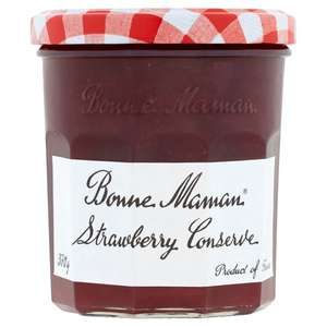 Bonne Maman Strawberry / Apricot / Peach / Blackcurrant / Cherries Conserve 370G - £1.50 Clubcard (Min Spend / Delivery Fee Applies) @ Tesco