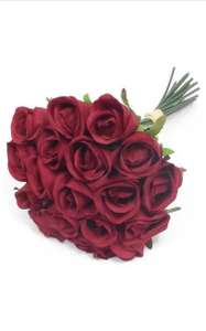 30cm Bunch / Bundle of 18 Artificial Red Roses £9.49 (+£4.49 nonPrime) Sold by A1-Homes and Fulfilled by Amazon