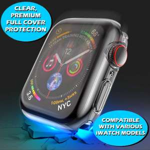 iWatch Screen Protector Case Cover Apple Watch Series 1/2/3/4&5 Fits all Models - 99p @ circuit_planet / ebay