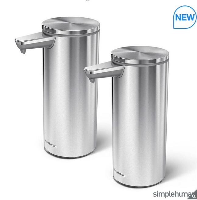 simplehuman Motion Sensor Soap Pump, 2 Pack £99.99 at Costco