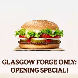 Burger King - Free Whopper @ Glasgow Forge Only (ends 05/02) via app