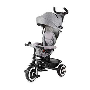 Kinderkraft Tricycle ASTON Baby Push Trike with Sun Canopy, Parent Handle, Footrest, Accessories, Bag, Cup Holder £57.90 Amazon
