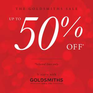 Up to 50% Off Watch & Jewellery Sale + Free Delivery @ Goldsmiths