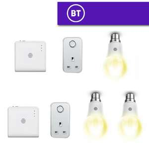 Hive Hub + Hive Smart Plug + 1 Hive Light Dimmable White B22 Smart Bulb - £44.98 / Bundle With 2 Bulbs £54.99 Delivered @ BT Shop
