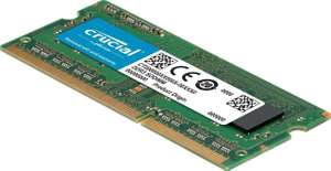 Crucial RAM CT102464BF160B 8 GB DDR3 1600 MHz CL11 Laptop Memory - £29.47 @ Amazon