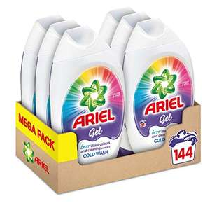 Ariel Washing Liquid Laundry Detergent Gel, 144 Washes (6 x 888 ml) £21.00 (or £17.85 Subscribe & Save) @ Amazon
