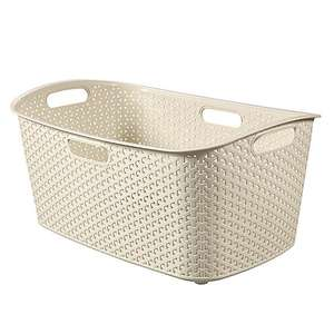 Curver My Style Cream or Grey 50 Litre Laundry Basket £9.95 delivered @ Dunelm