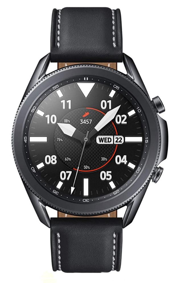 Samsung Galaxy Watch 3 Stainless Steel 45 mm Bluetooth Smart Watch - Mystic Black/Silver £319 @ Amazon