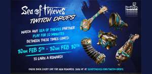 Sea of thieves twitch drops from 5th February - Gilded phoenix set