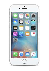 iPhone 6S Refurbished with 12 Months Warranty in Silver -16GB for £69 / 64GB for £89 @ GiffGaff shop