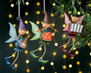 Trio of Pixie Boys Musical Pixies on Springs £13.50 with code Free delivery @ Olive & Sage