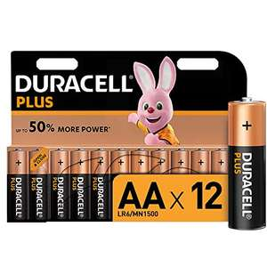 Duracell Plus AA Alkaline Batteries [Pack of 12] £5.99 (+£4.49 non prime) at Amazon