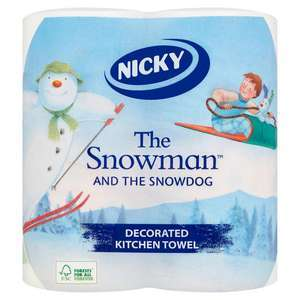 Nicky ''The Snowman & The Snowdog'' Toilet Rolls 4 roll pack 69p / Kitchen Towels 2 roll pack 49p at Farmfoods Grimsby