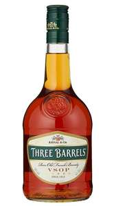 Three Barrels Rare Old French Brandy VSOP 70cl £13.50 prime / £17.99 nonPrime / £11.48 s&s at Amazon