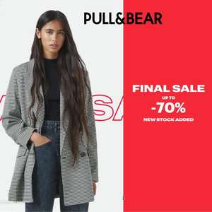 Up to 70% Off Sale, with new styles added + Free Delivery on a £30 spend (otherwise £3.95) @ Pull & Bear