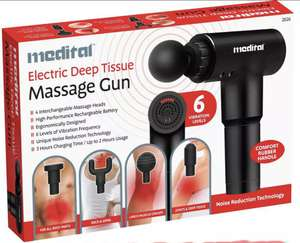 Percussion Massage Gun Massager Muscle Vibration Relaxing Therapy Deep Tissue - £23.79 with code @ eBay / thinkprice