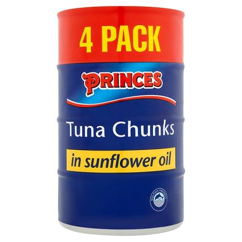 Princes Tuna Chucks in Sunflower Oil - 4 pack £2.50 @ Co-operative (Isle of Man)