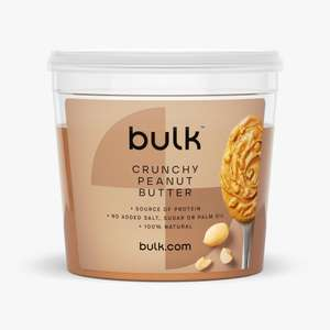 1KG Peanut Butter Crunchy/Smooth £3.99 (+ £3.95 Delivery or free delivery on £10 spend) @ BulkPowders