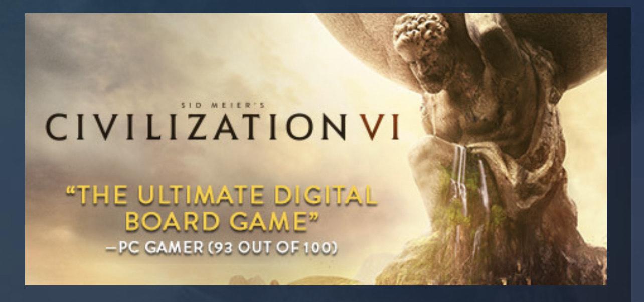 Sid Meier's Civilization® VI - Steam PC £5.89 @ Instant gaming