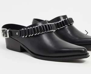 All Saints ryder leather western mules in black £32.80 + £4 delivery @ ASOS