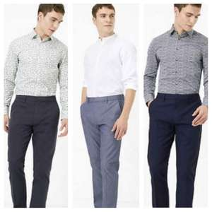Slim Fit Textured Stretch Chinos (Waist 28-38) £6 (3 Colours) - Delivery £3.50 @ Marks & Spencer