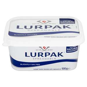 Lurpak Spreadable 500g 2 for £5 (+ Delivery Charge / Minimum Spend Applies) @ Iceland