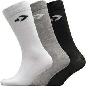 Converse Three Pack Crew Socks Mixed £1.49 + £4.99 del at MandM Direct