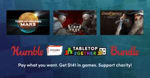 Humble Asmodee Digital Tabletop 2gether Bundle (Steam PC : Terraforming Mars/ Blood Rage/ Lord of the Rings + more) from 73p @ Humble Bundle
