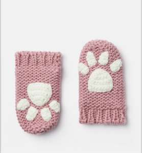 Joules baby girls paw print mittens age 6-12 months £1.95 delivered @ Joules