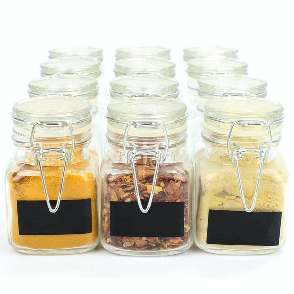 Mini Glass Spice Jars - £7.99 + £2.95 Delivery @ Roov