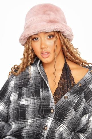 Pink Vegan Fur Bucket Hat £7.98 Delivered @ yourclothing