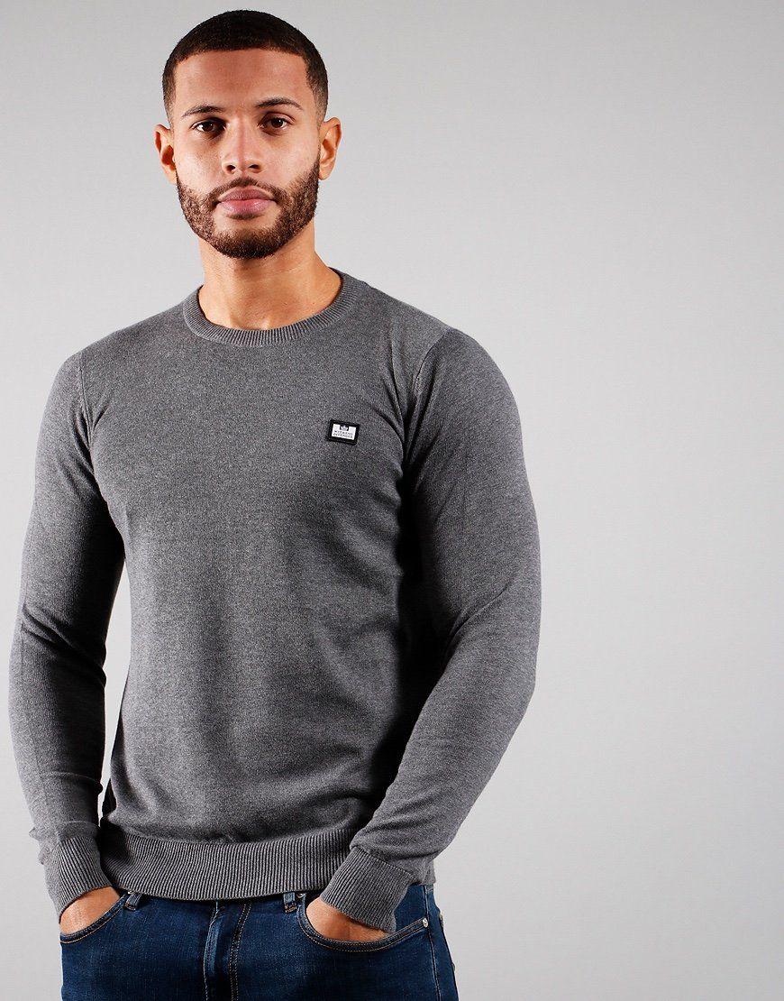 Weekend Offender Silver Knitted Jumper Dark Grey Melange size 3XL - £15 + £2.49 Delivery @ Terraces Menswear
