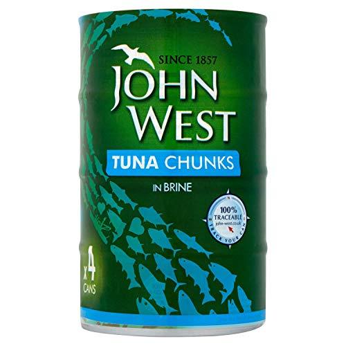 John West Tuna Chunks In Brine, 4 x 145g - £2.99 Prime / +£4.49 non Prime @ Amazon UK or Ireland