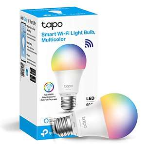 Tp-Link Tapo L530B (B22) or L530E (E27) smart multicolour bulb works with Alexa/Google Home for £10.99 Prime (plus £4.49 NP) at Amazon
