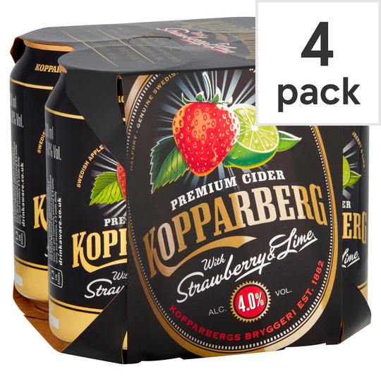 Kopparberg strawberry & lime 4 pack £4 @ Asda (Preston)
