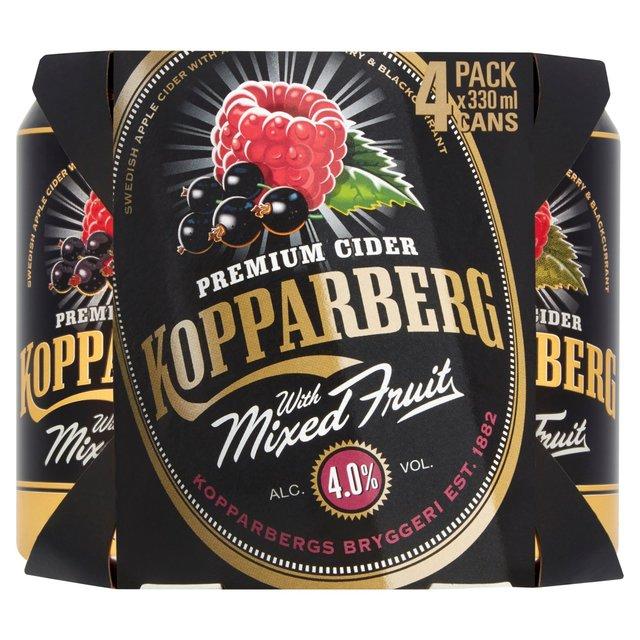 Kopparberg mixed fruit cider 4 pack - £4 @ Asda (Preston)