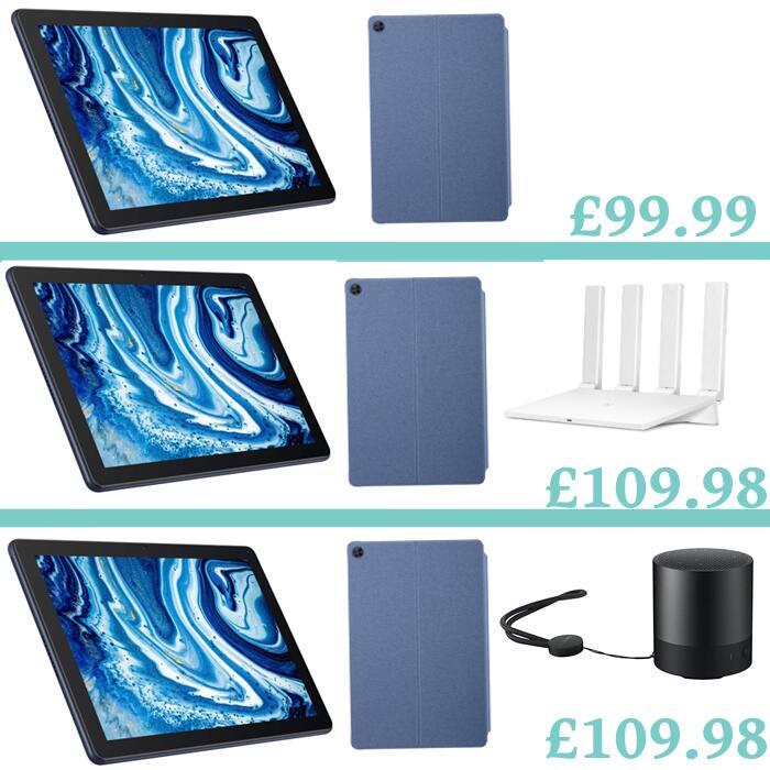 HUAWEI MatePad T10 Tablet + T Flip Cover - 2GB RAM / 16GB Storage - £99.99 / Add WiFi WS5200 OR Mini Speaker £9.99 Extra (£109.98) @ Huawei