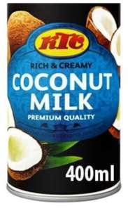 KTC Coconut Milk 400g Tins are 59p @ Farmfoods