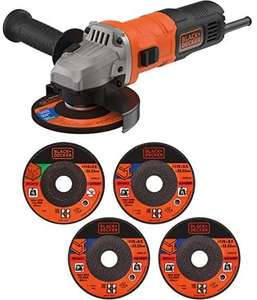 BLACK+DECKER 710 W Grinder Power Tool 115 mm with 5 Cutting Discs - £26 delivered @ Amazon