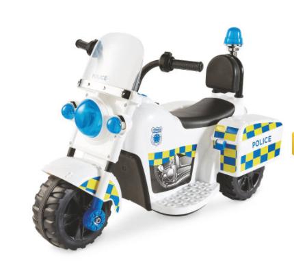 Police Ride-On Trike 6V £29.99 FREE Delivery over £30 @ Aldi