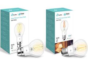 Kasa Smart Bulb by TP-Link, WiFi Filament Light Bulb, E27 or B22, 7W, No Hub Required - Dimmable - £10 Prime /+£4.49 Non-Prime @ Amazon