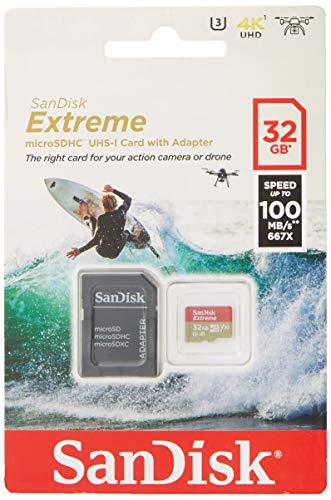 SanDisk Extreme 32 GB microSDhC Memory Card £7.86 (Prime) + £4.49 (non Prime) at Amazon
