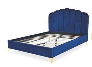 Scallop King Size Bed - Navy/Pink/Grey £299.99 + £6.95 delivery @ Aldi