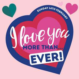 Personalised Valentines Day Card 1p delivered Using Code @ Card Factory